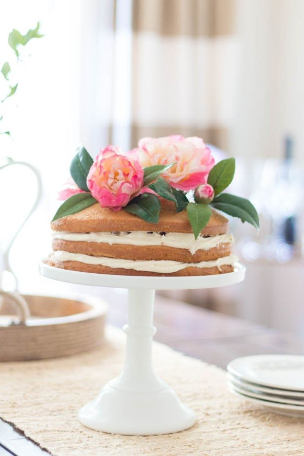 DIY Ideas With Faux Flowers - Floral Cake Topper - Paper, Fabric, Silk and Plastic Flower Crafts - Easy Arrangements, Wedding Decorations, Wall, Decorations, Letters, Cheap Home Decor