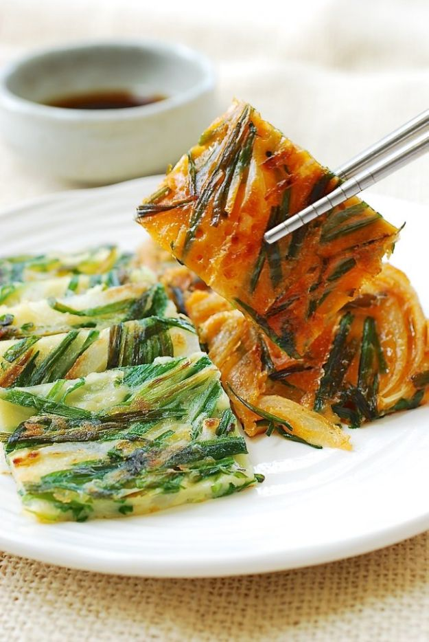 Best Pancake Recipes - Garlic Chive Pancakes - Homemade Pancakes With Banana, Berries, Fruit and Maple Syrup - How To Make Pancake Mix at Home - Gluten Free, Low Fat and Healthy Recipes - Breakfast and Brunch Recipe Ideas - Silver Dollar, Buttermilk, Make Ahead and Quick Versions With Strawberries and Blueberries #pancakes #pancakerecipes #recipeideas #breakfast #breakfastrecipes http://diyjoy.com/pancake-recipes