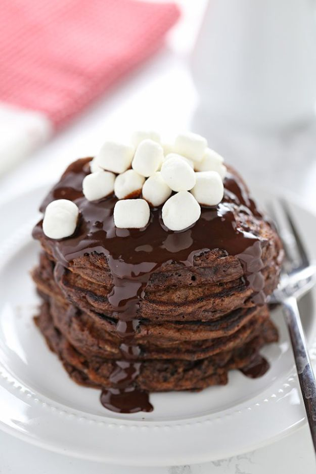 Best Pancake Recipes - Hot Chocolate Pancakes - Homemade Pancakes With Banana, Berries, Fruit and Maple Syrup - How To Make Pancake Mix at Home - Gluten Free, Low Fat and Healthy Recipes - Breakfast and Brunch Recipe Ideas - Silver Dollar, Buttermilk, Make Ahead and Quick Versions With Strawberries and Blueberries #pancakes #pancakerecipes #recipeideas #breakfast #breakfastrecipes http://diyjoy.com/pancake-recipes