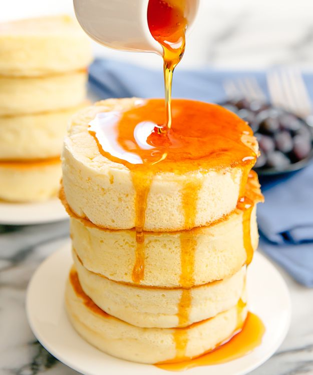 Best Pancake Recipes - Japanese Souffle Pancakes - Homemade Pancakes With Banana, Berries, Fruit and Maple Syrup - How To Make Pancake Mix at Home - Gluten Free, Low Fat and Healthy Recipes - Breakfast and Brunch Recipe Ideas - Silver Dollar, Buttermilk, Make Ahead and Quick Versions With Strawberries and Blueberries #pancakes #pancakerecipes #recipeideas #breakfast #breakfastrecipes http://diyjoy.com/pancake-recipes