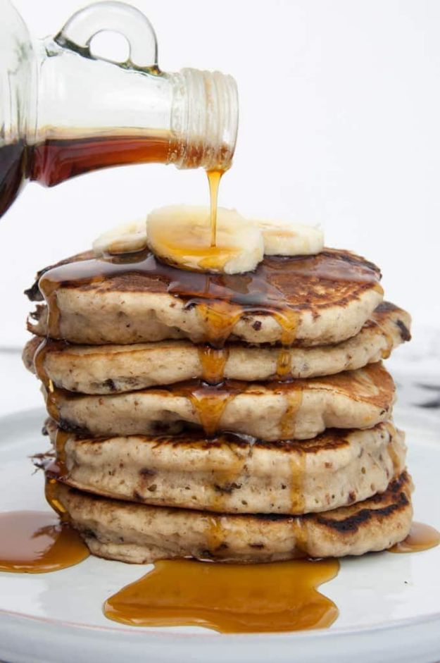 Best Pancake Recipes - Vegan Banana Bread Pancakes - Homemade Pancakes With Banana, Berries, Fruit and Maple Syrup - How To Make Pancake Mix at Home - Gluten Free, Low Fat and Healthy Recipes - Breakfast and Brunch Recipe Ideas - Silver Dollar, Buttermilk, Make Ahead and Quick Versions With Strawberries and Blueberries #pancakes #pancakerecipes #recipeideas #breakfast #breakfastrecipes http://diyjoy.com/pancake-recipes