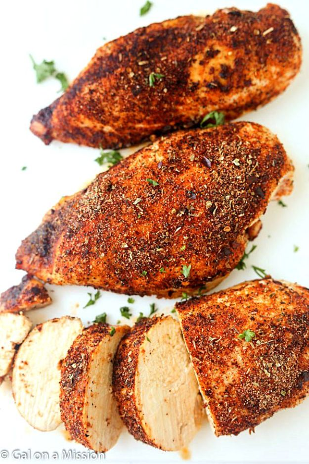 Chicken Breast Recipes - Baked Cajun Chicken Breasts - Healthy, Easy Chicken Recipes for Dinner, Lunch, Parties and Quick Weeknight Meals - Boneless Chicken Breast Casserole Recipes, Oven Baked Ideas, Crockpot Chicken Breasts, Marinades for Grilled Foods, Salads, Shredded Chicken Tacos, Creamy Pasta, Keto and Low Carb, Mexican, Asian and Italian Food http://diyjoy.com/chicken-breast-recipes