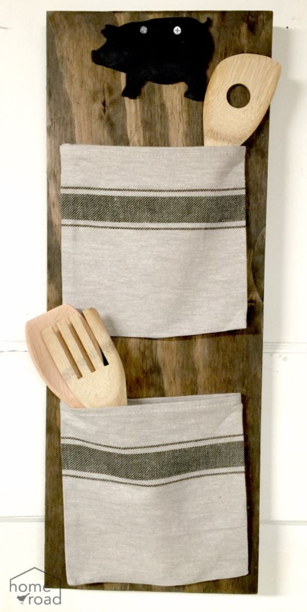 IKEA Hacks for Your Kitchen - Grain Sack Bag Organizer - DIY Furniture and Kitchen Accessories Made from IKEA - Kitchen Islands, Cabinets, Table, Pantry Organization, Storage, Shelves and Counter Solutions - Bar, Buffet and Entertaining Ideas - Easy Projects With Step by Step Tutorials and Instructions to Hack IKEA items http://diyjoy.com/ikea-hacks-kitchen #ikeahacks #diyhomedecor #diyideas #diykitchen