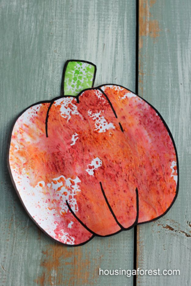 Fun Fall Crafts for Kids - Kool-Aid Pumpkins - Cool Crafts Ideas for Kids to Make With Paper, Glue, Leaves, Corn Husk, Pumpkin and Glitter - Halloween and Thanksgiving - Children Love Making Art, Paintings, Cards and Fall Decor - Placemats, Place Cards, Wall Art , Party Food and Decorations for Toddlers, Boys and Girls #fallcrafts #kidscrafts #kids