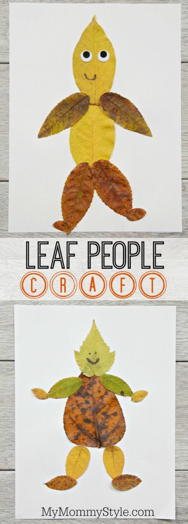 Fun Fall Crafts for Kids - Leaf People Craft - Cool Crafts Ideas for Kids to Make With Paper, Glue, Leaves, Corn Husk, Pumpkin and Glitter - Halloween and Thanksgiving - Children Love Making Art, Paintings, Cards and Fall Decor - Placemats, Place Cards, Wall Art , Party Food and Decorations for Toddlers, Boys and Girls #fallcrafts #kidscrafts #kids