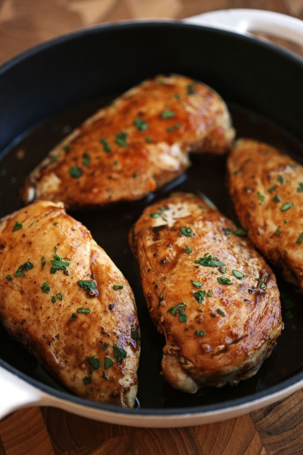 Chicken Breast Recipes - Maple Balsamic and Herb Chicken - Healthy, Easy Chicken Recipes for Dinner, Lunch, Parties and Quick Weeknight Meals - Boneless Chicken Breast Casserole Recipes, Oven Baked Ideas, Crockpot Chicken Breasts, Marinades for Grilled Foods, Salads, Shredded Chicken Tacos, Creamy Pasta, Keto and Low Carb, Mexican, Asian and Italian Food http://diyjoy.com/chicken-breast-recipes