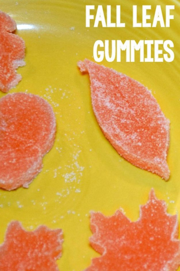 Fun Fall Crafts for Kids - Sugar Gummy Fall Leaves - Cool Crafts Ideas for Kids to Make With Paper, Glue, Leaves, Corn Husk, Pumpkin and Glitter - Halloween and Thanksgiving - Children Love Making Art, Paintings, Cards and Fall Decor - Placemats, Place Cards, Wall Art , Party Food and Decorations for Toddlers, Boys and Girls #fallcrafts #kidscrafts #kids