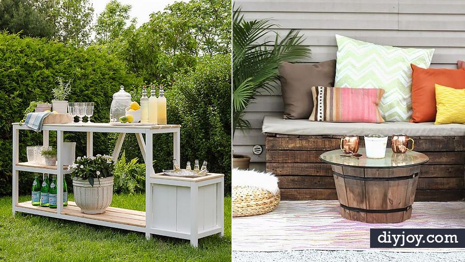 34 DIY Outdoor Furniture Ideas on Diy Garden Patio Ideas id=80018