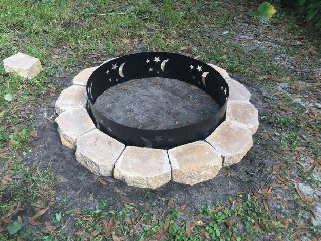 DIY Firepits - $75 DIY Fire Pit - Step by Step Tutorial for Raised Firepit , In Ground, Portable, Brick, Stone, Metal and Cinder Block Outdoor Fireplace - Add Seating to Your Patio and yard With An Inexpensive Firepit http://diyjoy.com/diy-firepits