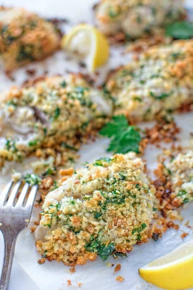 Tilapia Recipes - Baked Breaded Tilapia - Best Recipe Ideas for Tilapia Fish - Dinner, Lunch, Snacks and Appetizers - Healthy Foods, Gluten Free Low Carb and Keto Friendly Dishes - Salads, Pastas and Easy Weeknight Dinners, Lunches for Work - Broiled, Grilled, Lemon Baked, Fried and Quick Ways to Make Tilapia http://diyjoy.com/tilapia-recipes