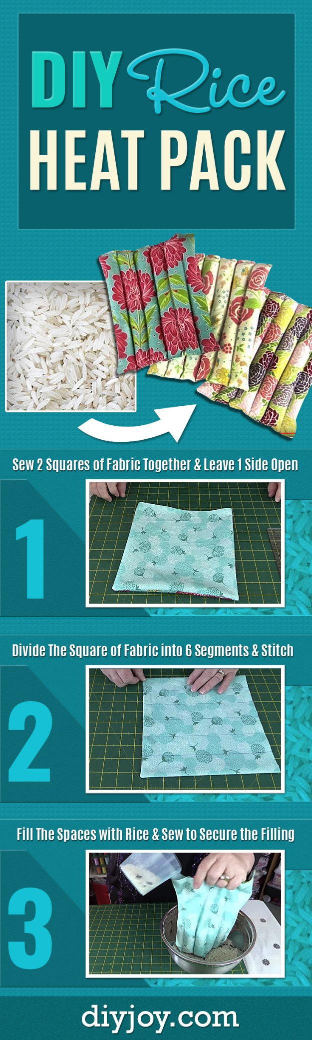 Cheap Last Minute Gifts DIY - DIY Rice Heat Pack - Inexpensive DIY Gift Ideas To Make On A Budget - Homemade Christmas and Birthday Presents to Make For Mom, Dad, Daughter & Son, Kids, Friends and Family - Cool and Creative Crafts, Home Decor and Accessories, Fun Gadgets and Phone Stuff - Quick Gifts From Dollar Tree Items http://diyjoy.com/cheap-last-minute-gifts
