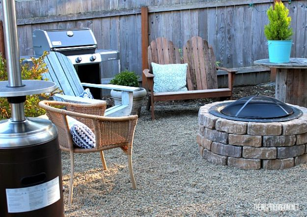 DIY Firepits - Easy DIY Firepit - Step by Step Tutorial for Raised Firepit , In Ground, Portable, Brick, Stone, Metal and Cinder Block Outdoor Fireplace - Add Seating to Your Patio and yard With An Inexpensive Firepit http://diyjoy.com/diy-firepits