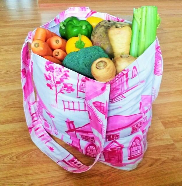 DIY Shopping Bags - Make Your Own Shopping Bag - Easy Drawstring Bag Tutorials - How To Make A Shopping Bag - Use Fabric Scraps, Old Denim Jeans, Upcycled Items - Cute Monogrammed Ideas, Painted Bags and Sewing Tutorials for Beginners http://diyjoy.com/diy-drawstring-bags