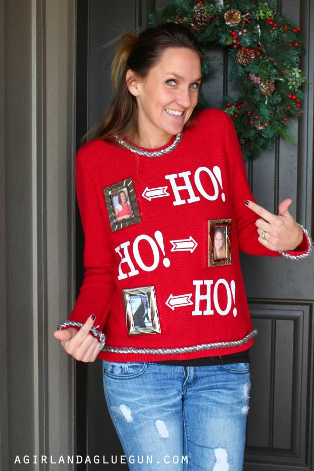DIY Ugly Christmas Sweaters - Interchangeable Ugly Christmas Sweater - No Sew and Easy Sewing Projects - Ideas for Him and Her to Wear to Holiday Contest or Office Party Outfit - Funny Couples Sweater, Mens Womens and Kids https://diyjoy.com/diy-ugly-christmas-sweaters