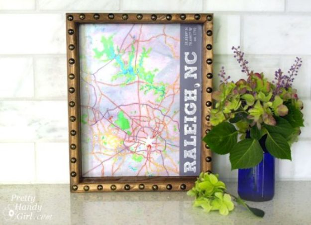 Cool State Crafts - State Capital Rustic Tray - Easy Craft Projects To Show Your Love For Your Home State - Best DIY Ideas Using Maps, String Art Shaped Like States, Quotes, Sayings and Wall Art Ideas, Painted Canvases, Cute Pillows, Fun Gifts and DIY Decor Made Simple - Creative Decorating Ideas for Living Room, Kitchen, Bedroom, Bath and Porch http://diyjoy.com/cool-state-crafts