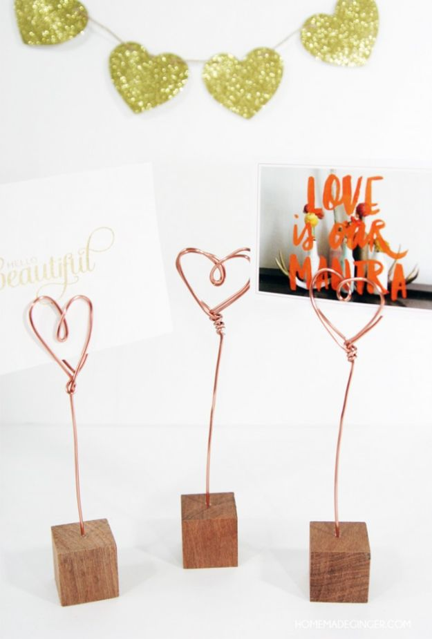 Fun DIY Ideas for Adults - Copper Wire Photo Holders - Easy Crafts and Gift Ideas , Cool Projects That Are Fun to Make - Crafts Idea for Men and Women