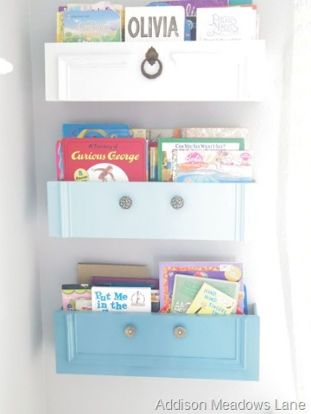 DIY Nursery Decor Ideas for Girls - DIY Bookshelf - Cute Pink Room Decorations for Baby Girl - Crib Bedding, Changing Table, Organization Idea, Furniture and Easy Wall Art