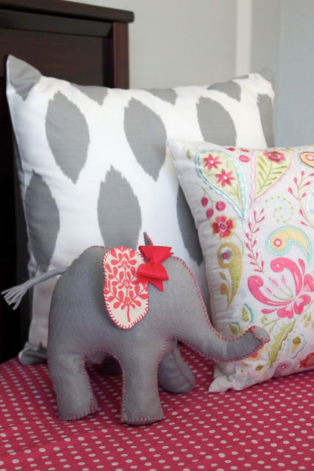 DIY Nursery Decor Ideas for Girls - Elephant Door Stop - Cute Pink Room Decorations for Baby Girl - Crib Bedding, Changing Table, Organization Idea, Furniture and Easy Wall Art