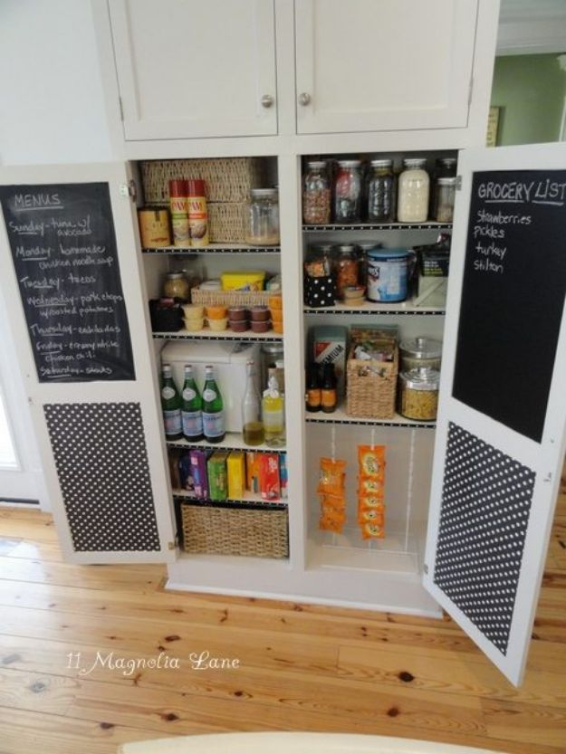 DIY Pantry Organizing Ideas - Pantry Re-organization - Easy Organization for the Kitchen Pantry - Cheap Shelving and Storage Jars, Labels, Containers, Baskets to Organize Cans and Food, Spices