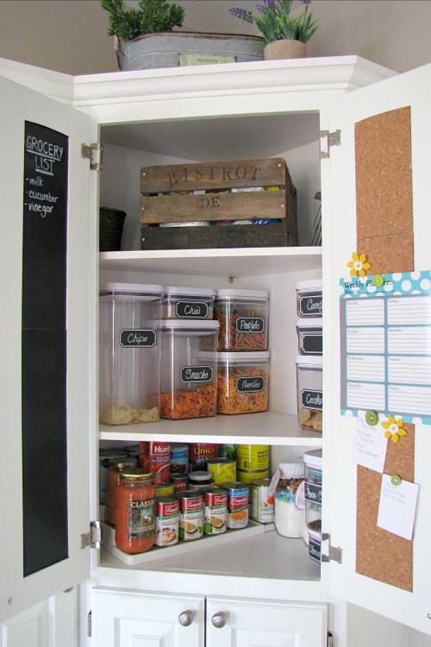 DIY Pantry Organizing Ideas - Small Pantry Organization - Easy Organization for the Kitchen Pantry - Cheap Shelving and Storage Jars, Labels, Containers, Baskets to Organize Cans and Food, Spices