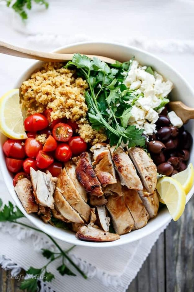 Recipes for Clean Eating - Balsamic Chicken With Lemon Quinoa - Raw and Whole Foods, Unprocessed Meal and Snack Ideas for Lunch and Dinner - Fresh, Healthy Foods and Recipe Ideas