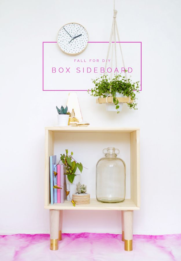 DIY Sideboards - DIY Box Sideboard - Easy Furniture Ideas to Make On A Budget - DYI Side Board Tutorial for Makeover, Building Wooden Home Decor