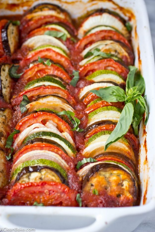 Recipes for Clean Eating - Easy Healthy Ratatouille -Raw and Whole Foods, Unprocessed Meal and Snack Ideas for Lunch and Dinner - Fresh, Healthy Foods and Recipe Ideas