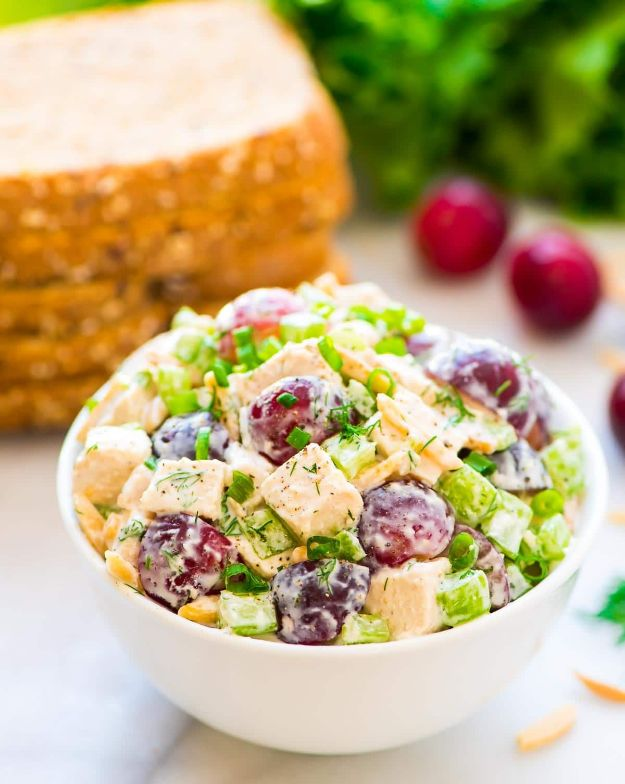 Recipes for Clean Eating - Greek Yogurt Chicken Salad - Raw and Whole Foods, Unprocessed Meal and Snack Ideas for Lunch and Dinner - Fresh, Healthy Foods and Recipe Ideas