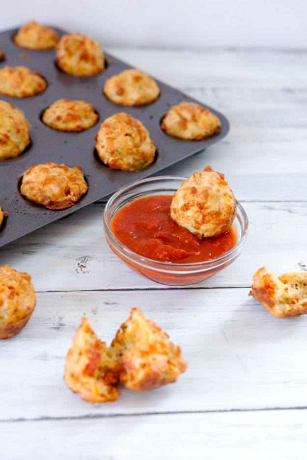 Potluck Recipe Ideas - Pepperoni Pizza Bites - Easy Recipes to Take To Potlucks - Dinner Casseroles, Salads, One Pot Meals, Pasta Dishes, Quick Crockpot Recipes