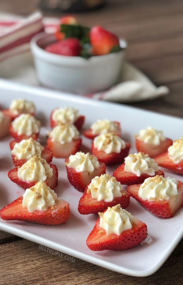 Best Strawberry Recipes - Deviled Strawberries - Easy Recipe Ideas With Fresh Strawberries - Dessert, Cakes, Breakfast, Muffins, Pie, Salad