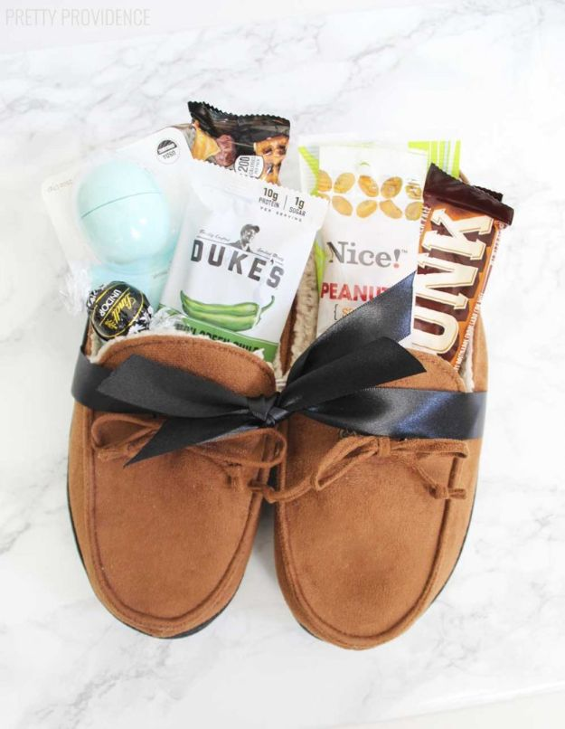 DIY Fathers Day Gifts - Slippers Gift Idea For Dad- Homemade Presents and Gift Ideas for Dad - Cute and Easy Things to Make For Father