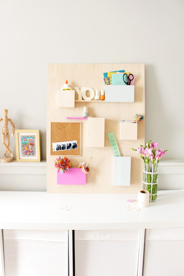 DIY Mail Organizers - Anthropologie Wall Organizer - Cheap and Easy Ideas for Getting Organized - Creative Home Decor on A Budget - Farmhouse, Modern and Rustic Mail Sorter, Organizer