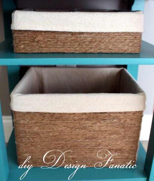 DIY Storage Baskets - Baskets Made From Cardboard Boxes - Cheap and Easy Ideas for Getting Organized - Creative Home Decor on A Budget - Farmhouse, Modern and Rustic Basket Projects