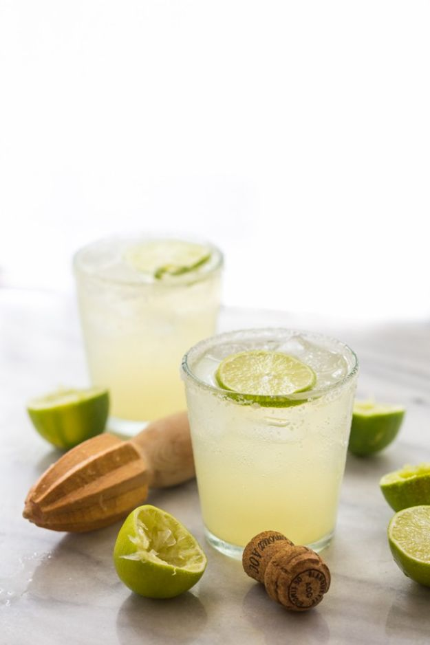 Margarita Recipes - Champagne Margarita - Drink Recipes for a Party - Recipe Ideas for Blender Margaritas - Lime, Strawberry, Fruit | Easy Drinks With Tequila