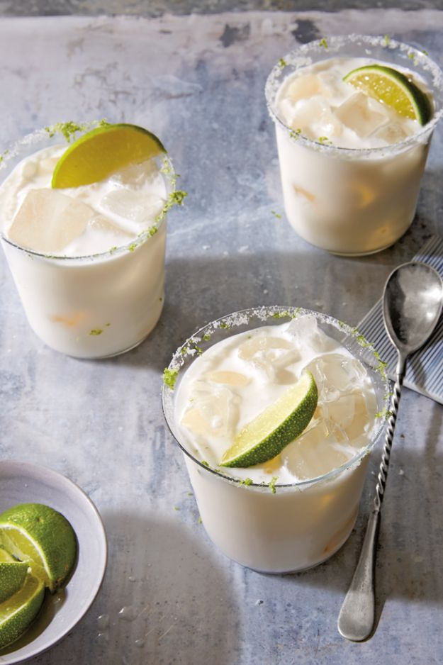 Margarita Recipes - Coconut Cream and Lime Margarita - Drink Recipes for a Party - Recipe Ideas for Blender Margaritas - Lime, Strawberry, Fruit | Easy Drinks With Tequila