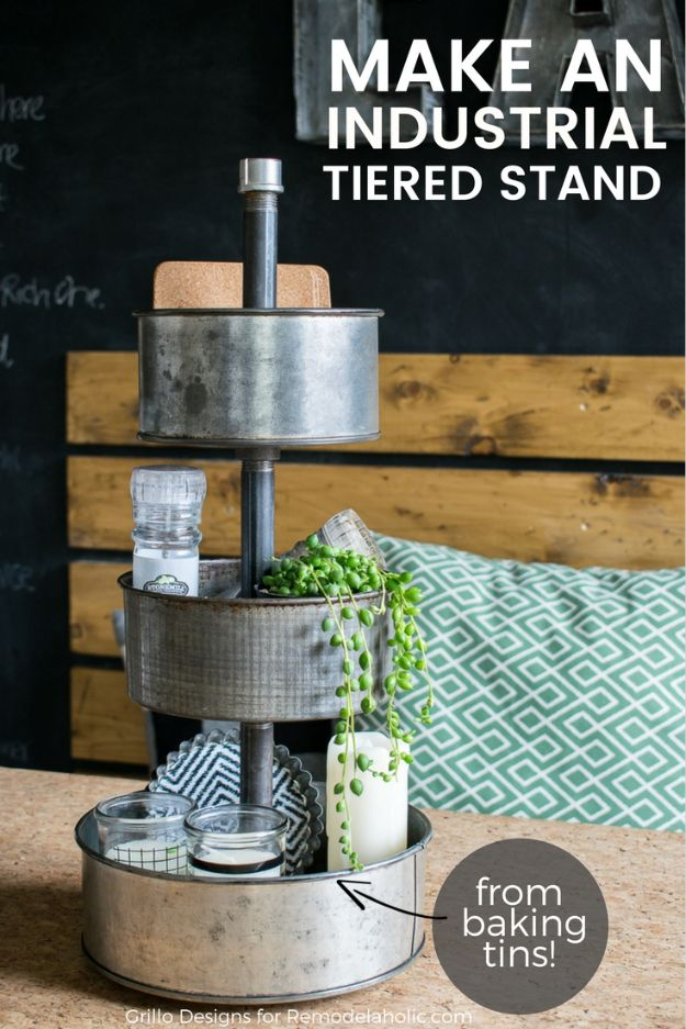 DIY Vanity Trays - DIY Three Tiered Stand – From Baking Tins - Easy Homemade Decor for Bathroom, Bedroom and Vanities - Tray to Store Jewelry and Accessories With These Cool and Easy Crafts
