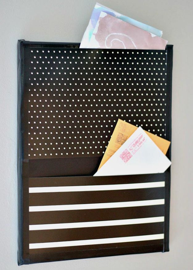 DIY Mail Organizers - Easy DIY Wall Organizer to Stop the Paper Clutter - Cheap and Easy Ideas for Getting Organized - Creative Home Decor on A Budget - Farmhouse, Modern and Rustic Mail Sorter, Organizer
