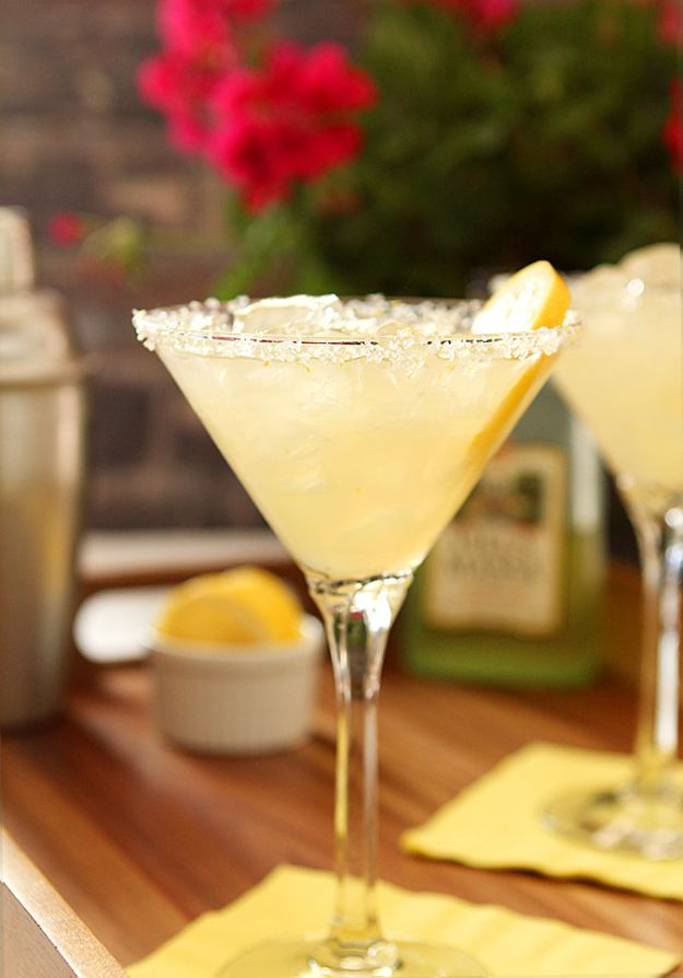 Margarita Recipes - Limoncello Margarita - Drink Recipes for a Party - Recipe Ideas for Blender Margaritas - Lime, Strawberry, Fruit | Easy Drinks With Tequila