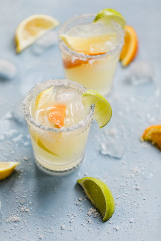 Margarita Recipes - Margaritas on the Rocks - Drink Recipes for a Party - Recipe Ideas for Blender Margaritas - Lime, Strawberry, Fruit | Easy Drinks With Tequila
