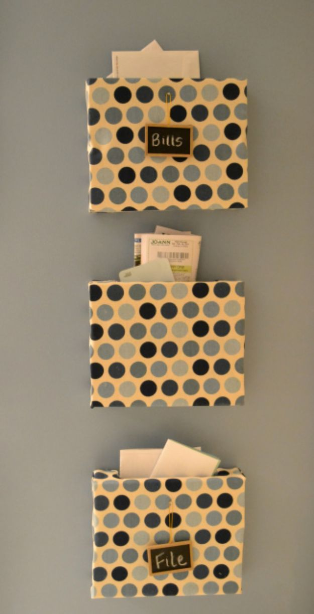 DIY Mail Organizers - Organization Bins - Cheap and Easy Ideas for Getting Organized - Creative Home Decor on A Budget - Farmhouse, Modern and Rustic Mail Sorter, Organizer