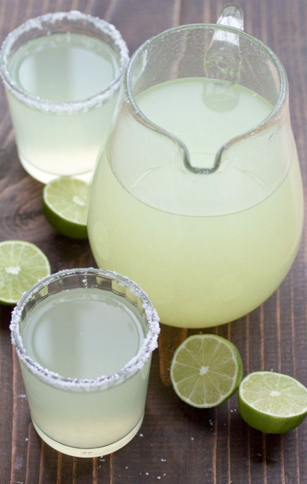 Margarita Recipes - Perfect Pitcher Margarita - Drink Recipes for a Party - Recipe Ideas for Blender Margaritas - Lime, Strawberry, Fruit | Easy Drinks With Tequila