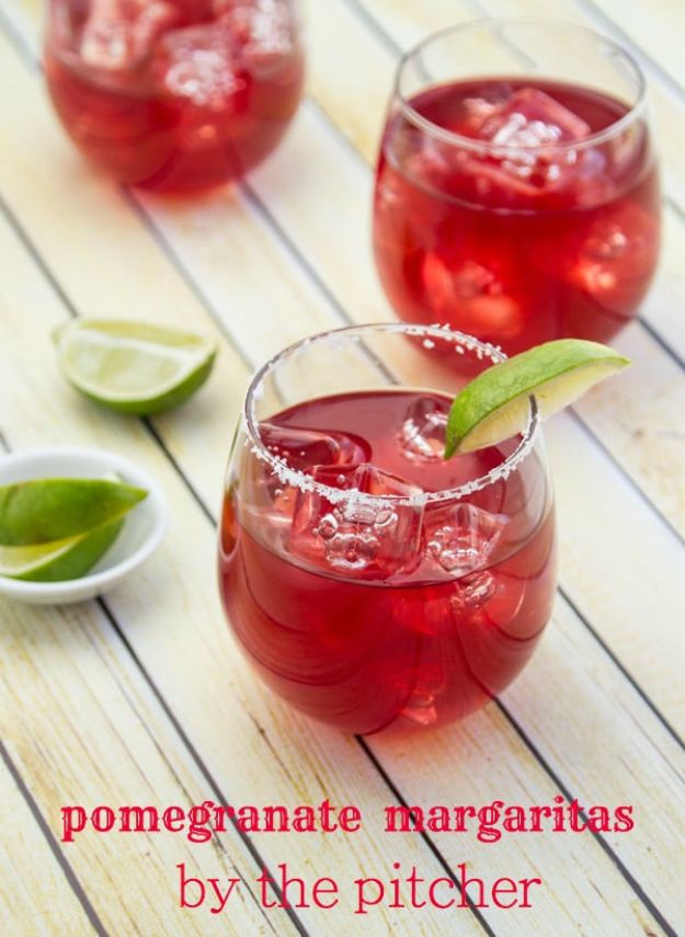 Margarita Recipes - Pomegranate Margarita - Drink Recipes for a Party - Recipe Ideas for Blender Margaritas - Lime, Strawberry, Fruit | Easy Drinks With Tequila