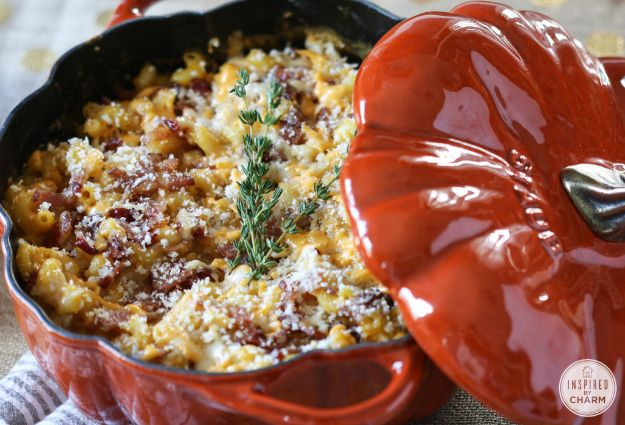 Mac and Cheese Recipes | Pumpkin Mac and Cheese With Bacon - Easy Recipe Ideas for Macaroni and Cheese - Quick Side Dishes
