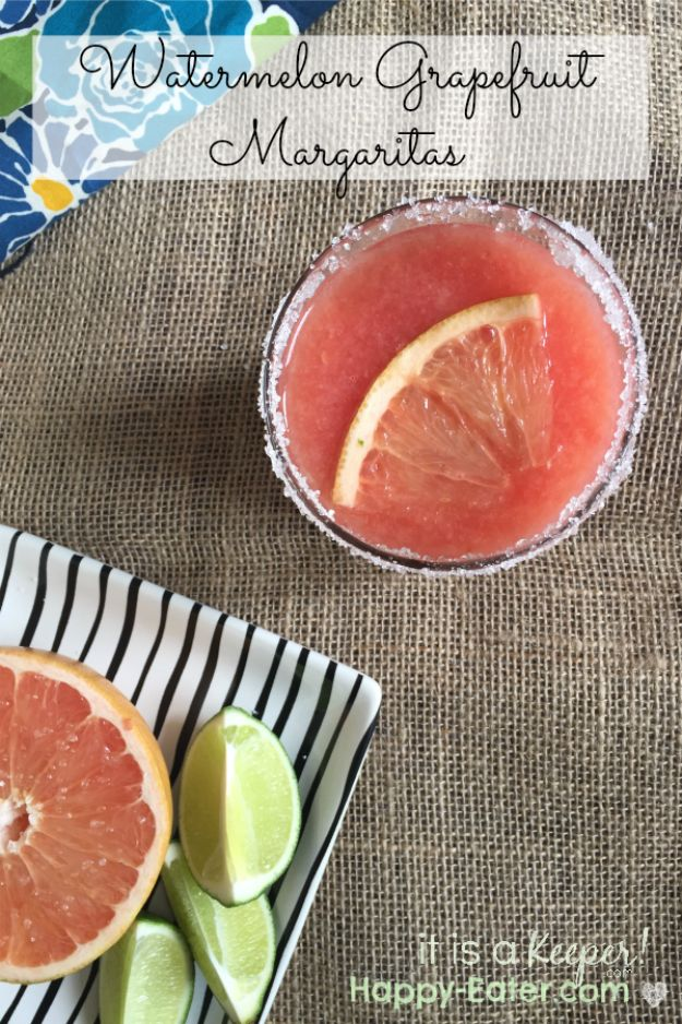 Margarita Recipes - Watermelon Grapefruit Margaritas - Drink Recipes for a Party - Recipe Ideas for Blender Margaritas - Lime, Strawberry, Fruit | Easy Drinks With Tequila