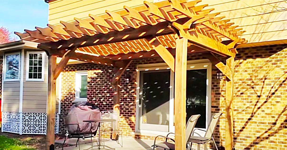 how to build a pergola on a cement patio