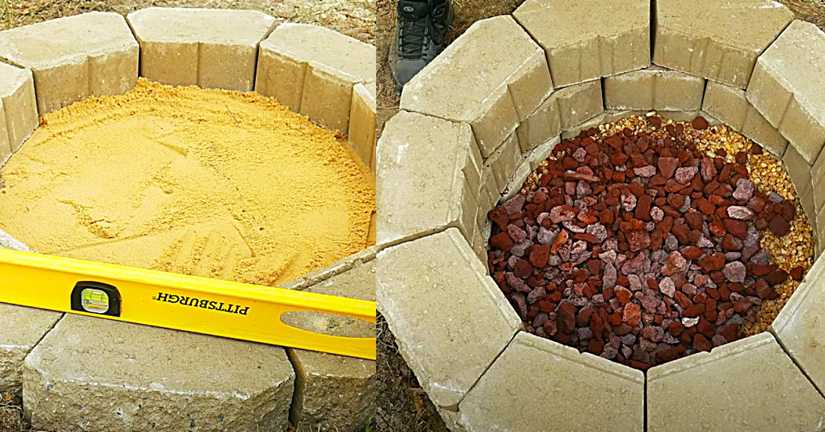How To Build A Cinder Block Fire Pit For $50 on Diy Cinder Block Fireplace id=99627