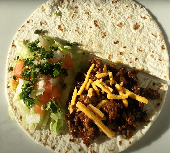 How To Make A Taco Tortilla Wrap - TikTok Viral Foods - TikTok Food Trends