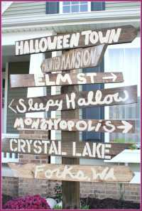 halloween direction signs
