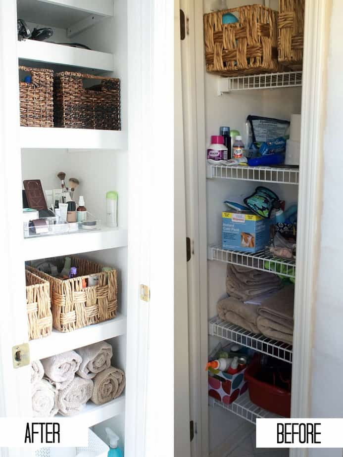 how to build a bathroom linen closet | roselawnlutheran