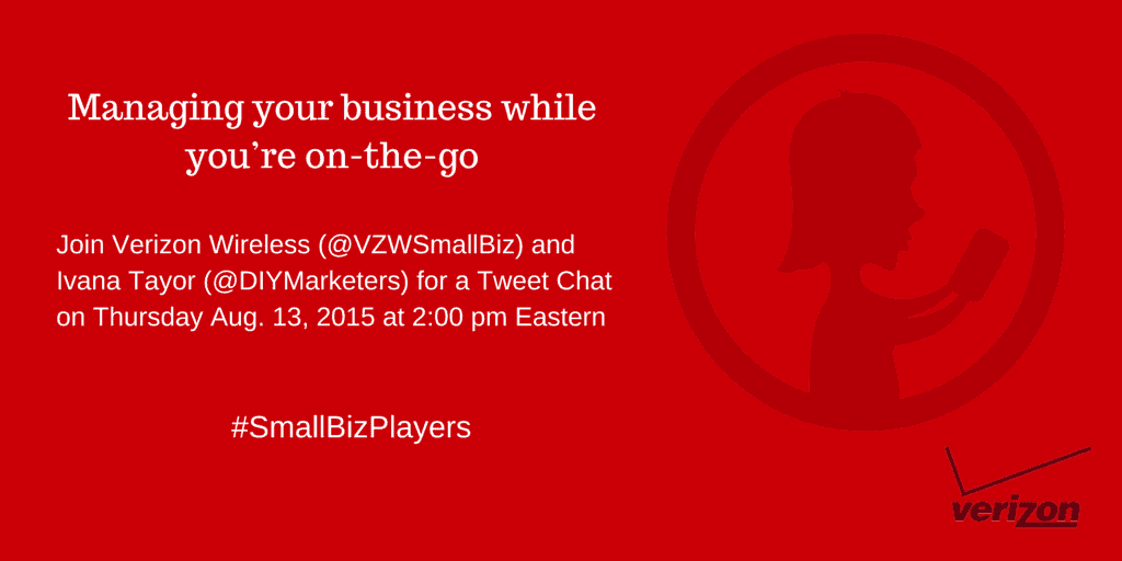 Join the #SmallBizPlayers Tweet Chat on Managing Your Business While You?re On The Go